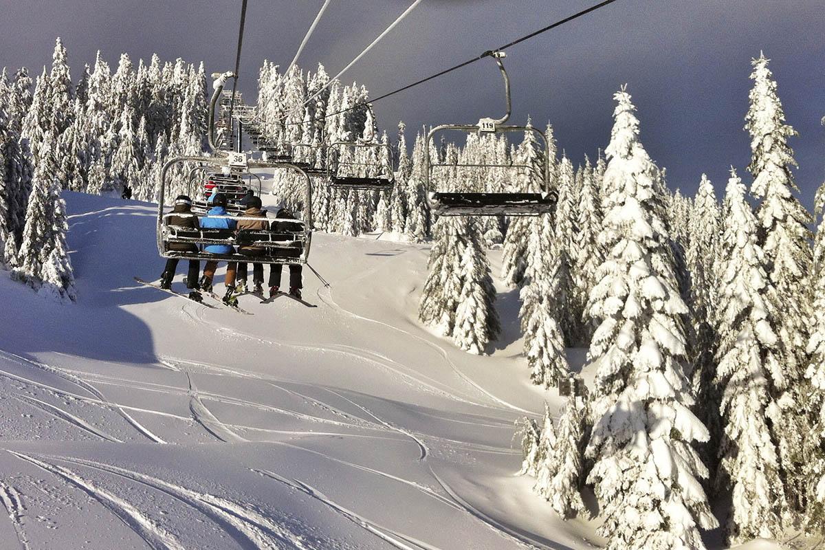Okanagan Ski Resort New Snow